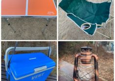 ソロキャンプ基本セット(椅子1脚、テーブル1脚、クーラーBOX、ランタン)